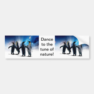 Dança dos pinguins adesivo para carro