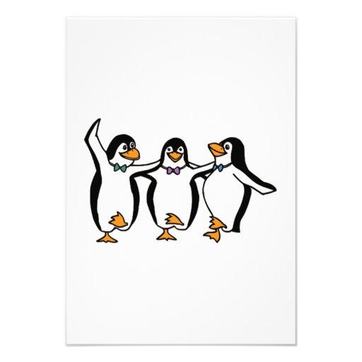 Dança dos pinguins convite personalizados