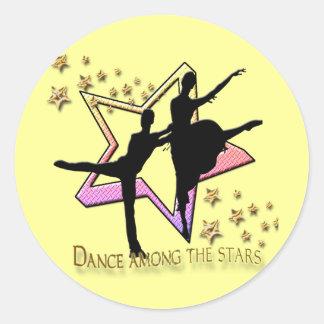 Dança entre estrelas adesivo