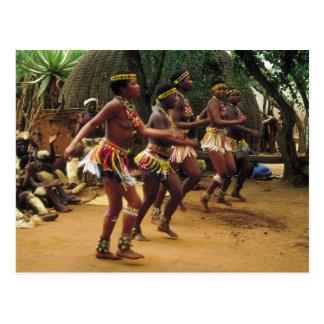 Dança, estilo do tribo Zulu - África do Sul Cartão Postal