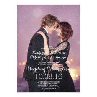 Dança Loving do casal na cidade/casamento da noite Convite 12.7 X 17.78cm