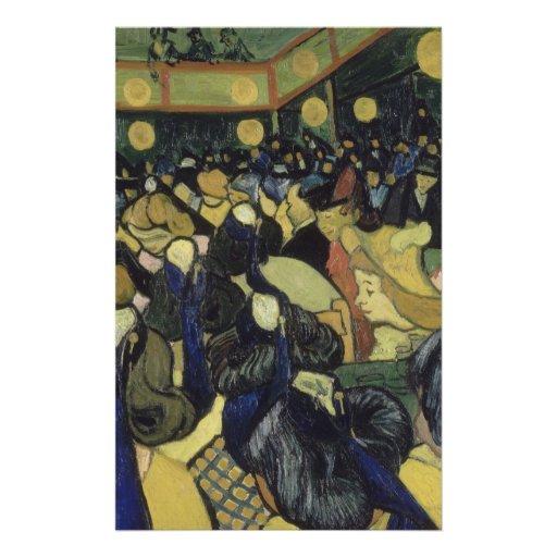 Dança salão em Arles por Vincent van Gogh Modelo De Panfleto