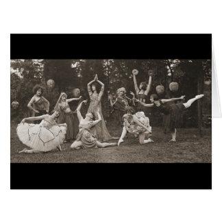 Dança selvagem 1924 das mulheres cartão comemorativo grande