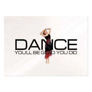 Dança SUPERIOR Cartão De Visita Grande