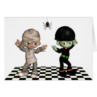 Dança-woogie do Dia das Bruxas! Cartão do Dia das
