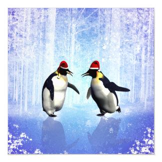 Dançando para o Natal, pinguim engraçado