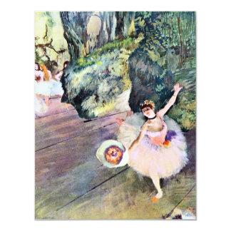 Dançarino com um buquê das flores por Edgar Degas Convites Personalizados