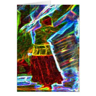 Dançarino com véu cartão de nota