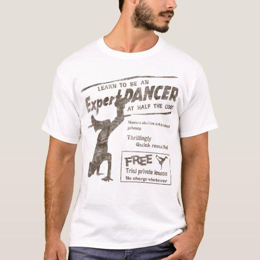 Dançarino da ruptura do vintage camisetas