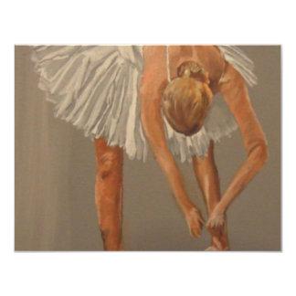 Dançarino de balé 1 convite personalizado
