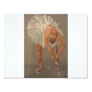Dançarino de balé 1 convite 10.79 x 13.97cm