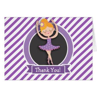 Dançarino de balé da menina; Bailarina; Roxo & Cartões