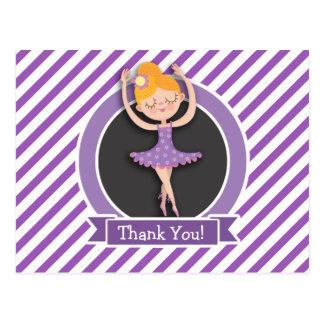Dançarino de balé da menina; Bailarina; Roxo & Cartão Postal