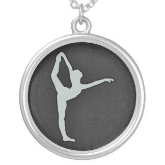 Dançarino de balé das cinzas de cinza colar personalizado