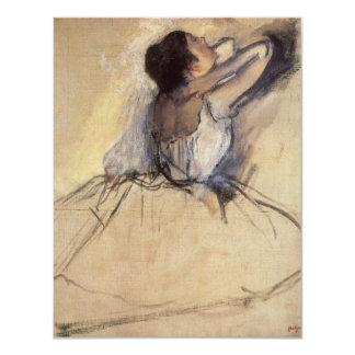 Dançarino de balé do impressionismo do vintage por convite 10.79 x 13.97cm