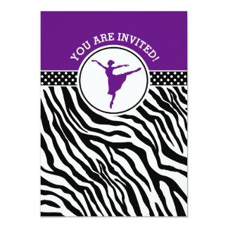 Dançarino de balé personalizado do impressão da convite 12.7 x 17.78cm