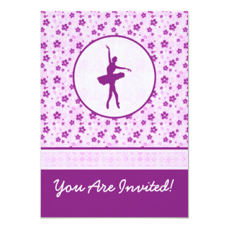 Dançarino de balé personalizado Purple Heart Convite 12.7 X 17.78cm