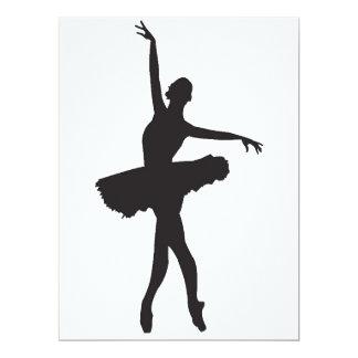 DANÇARINO de BALÉ (silhueta) da bailarina ~.png Convite 16.51 X 22.22cm