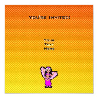 Dançarino de barriga amarelo alaranjado convite