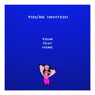 Dançarino de barriga azul convite personalizado