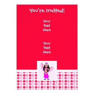 Dançarino de barriga bonito convite personalizados