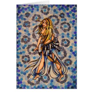 Dançarino de barriga de Kalila Cartão Comemorativo