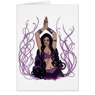 Dançarino de barriga de Umalini Cartão