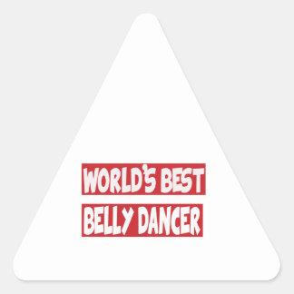 Dançarino de barriga do mundo o melhor adesivos triângulo