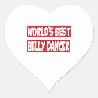 Dançarino de barriga do mundo o melhor adesivos em forma de corações