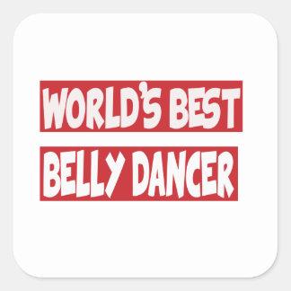 Dançarino de barriga do mundo o melhor adesivos quadrados