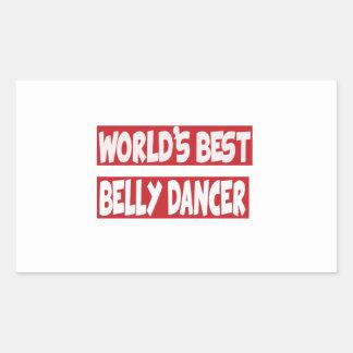 Dançarino de barriga do mundo o melhor adesivo em formato retângular