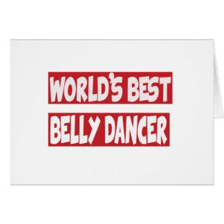 Dançarino de barriga do mundo o melhor cartão