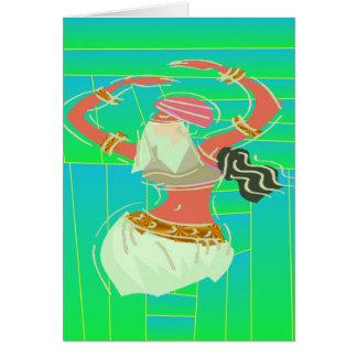 Dançarino de barriga exótico cartão comemorativo