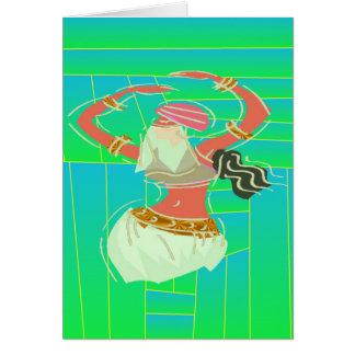 Dançarino de barriga exótico cartão de nota