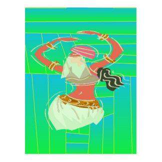 Dançarino de barriga exótico cartão postal