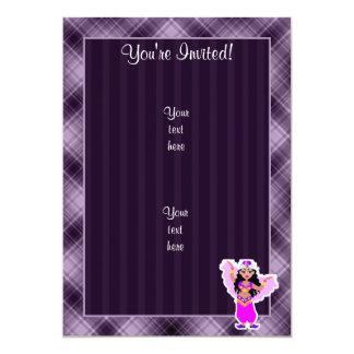 Dançarino de barriga roxo convite 12.7 x 17.78cm