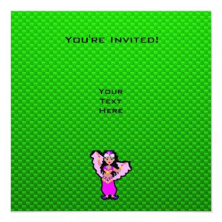 Dançarino de barriga verde convites