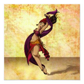 Dançarino de Rohesia Convite Quadrado 13.35 X 13.35cm