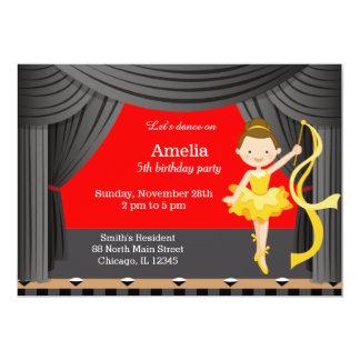 Dançarino do aniversário convite 12.7 x 17.78cm