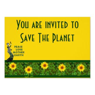 Dançarino do Dia da Terra Convite 12.7 X 17.78cm
