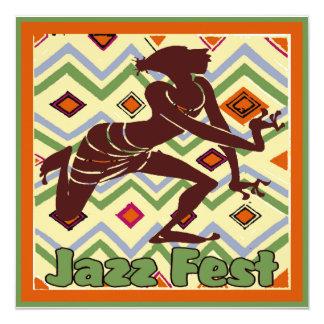 Dançarino do Fest do jazz demasiado Convite Quadrado 13.35 X 13.35cm