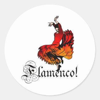 Dançarino do Flamenco Adesivo