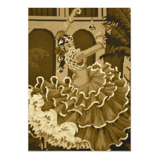 Dançarino do Flamenco no convite do Sepia