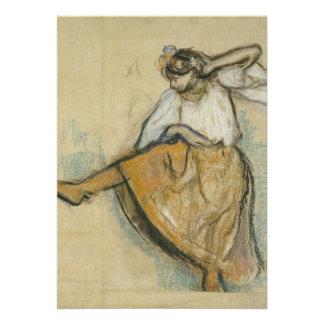 Dançarino do russo por Edgar Degas Convites Personalizados