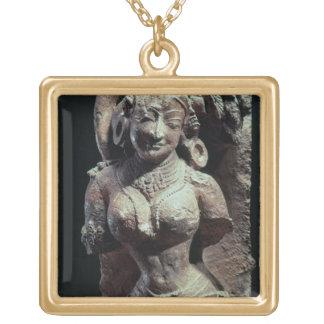 Dançarino, do templo de Sun de Kanara, indiano, 13 Colar Personalizado