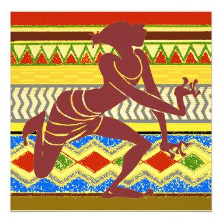 Dançarino egípcio exótico convite personalizado