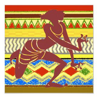 Dançarino egípcio exótico convite quadrado 13.35 x 13.35cm