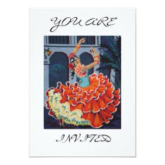 Dançarino espanhol do Flamenco você é convite