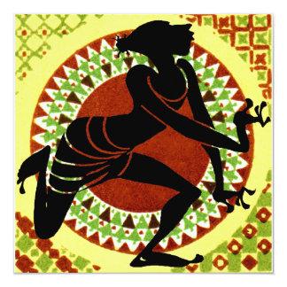 Dançarino exótico convite quadrado 13.35 x 13.35cm
