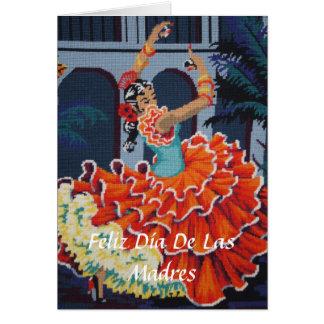 Dançarino Feliz Día De Las Madres Cartão do